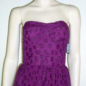 Guess NWT Metallic Strapless Dress #5087